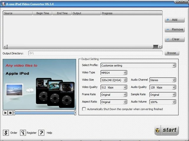 A-one iPod Video Converter v6.3.4