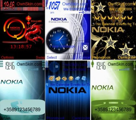 6 Animated themes for NOKIA S60