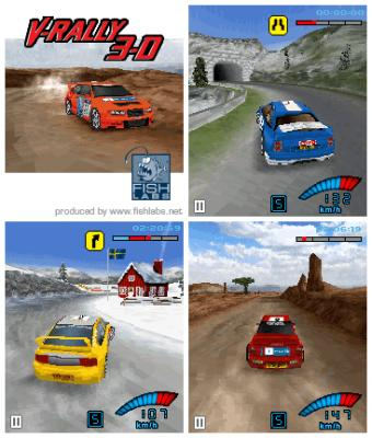 V-Rally 3D - Mobile Java Games