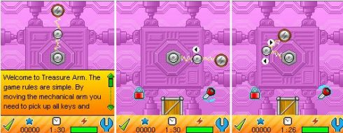 Robot Treasure Arm - Mobile Java Games