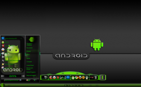 Тема Windows 7 для Android / Android Theme for Windows 7