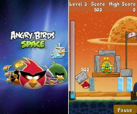 Java игра Angry Birds Space v.1.0