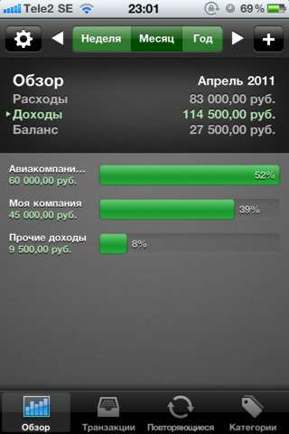 Мои расходы (My Wallet+) v1.0940 [.ipa/iPhone/iPod Touch]