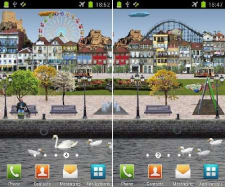 Riverside Park Live Wallpaper (Android)